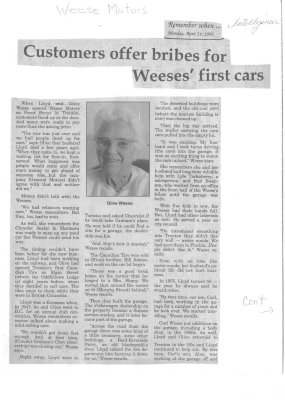 Remember when: Customers offer bribes for Weeses' first cars