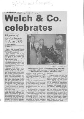 Welch & Co. celebrates
