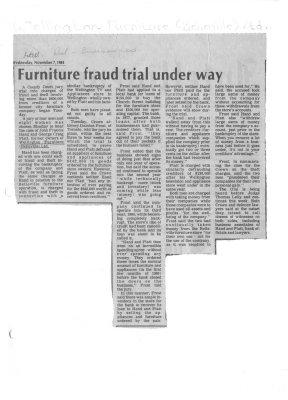 Furniture fraud trial under way