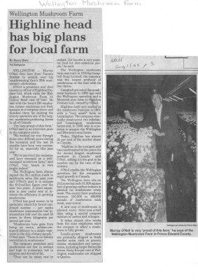 Wellington Mushroom Farm: Highline head has big plans for local farm