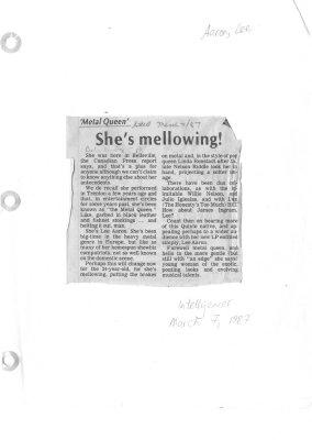 Metal queen: She's mellowing