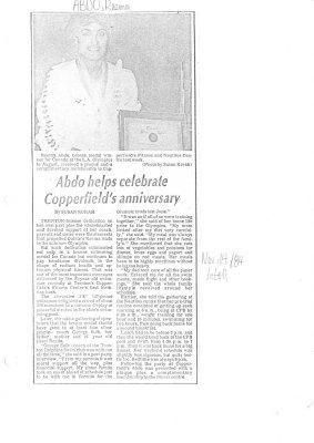Abdo helps celebrate Copperfield's anniversary