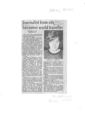 Journalist from city becomes world traveller