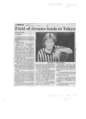 Field of dreams leads to Tokyo
