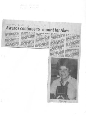 Awards continue to mount for Akey
