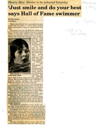 Just smile and do your best says Hall of Fame swimmer