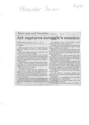 Art captures struggle's essence