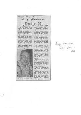 Garry Alexander dead at 35