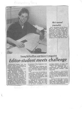 Editor-student meets challenge
