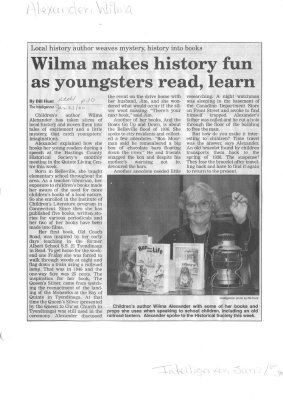 Wilma makes history fun as youngsters read, learn