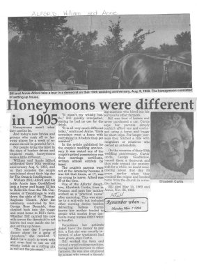 Remember When: Honeymoons were different in 1905
