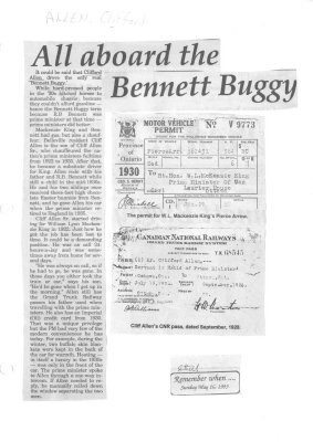 Remember when: All aboard the Bennett Buggy