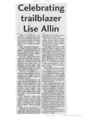 Celebrating trailblazer Lise Allin