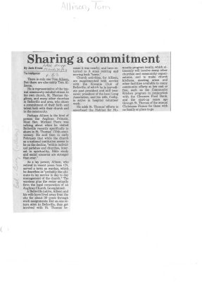 Sharing a commitment