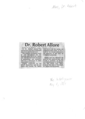 Dr. Robert Allore