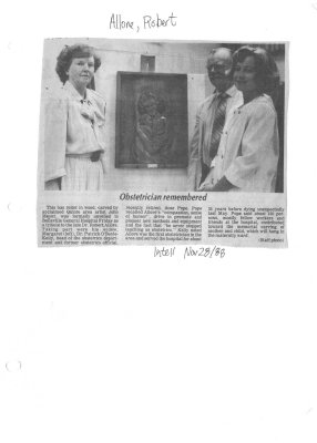 Obstetrician remembered