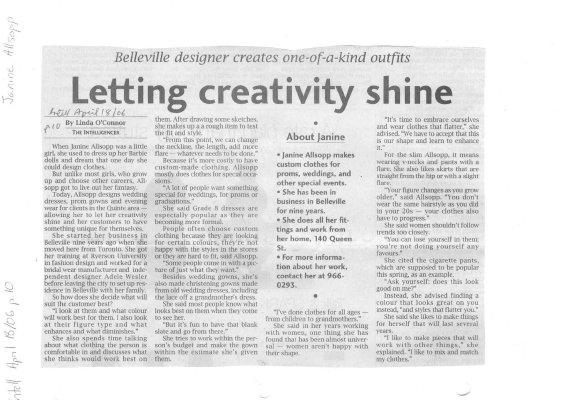 Letting creativity shine