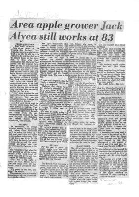 Area apple grower Jack Alyea still works at 83