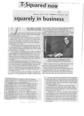 T-Squared now squarely in business