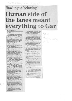 Human side of the lanes meant everything to Gar