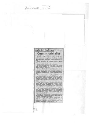 County jurist dies