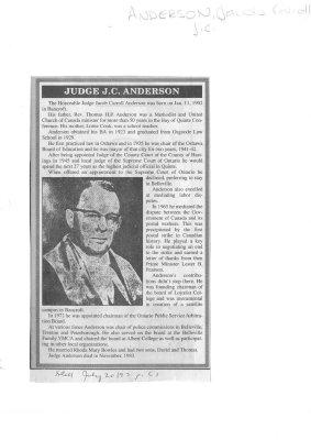 Judge J. C. Anderson
