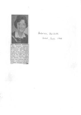 Miss Meribeth Anderson