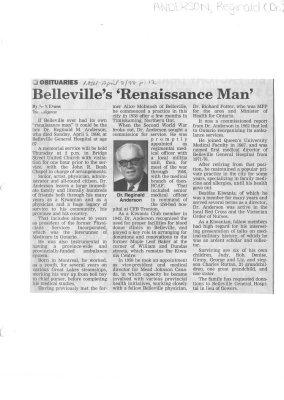 Belleville's 'Renaissance Man'