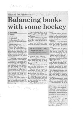 Balancing books with some hockey