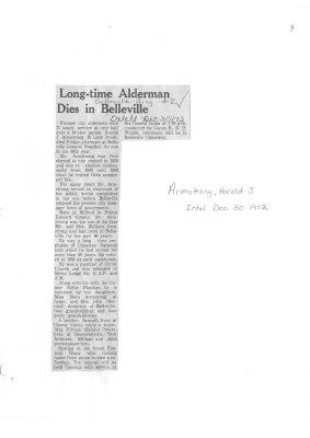 Long-time Alderman Dies in Belleville