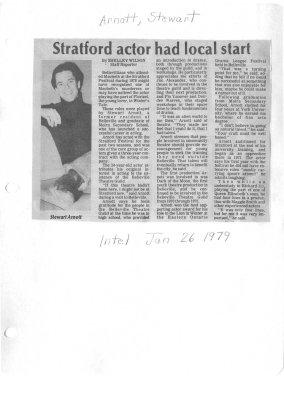 Stratford actor had local start