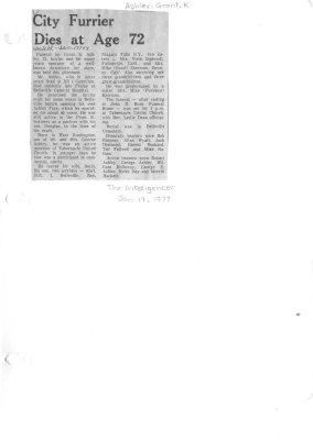 City Furrier Dies at Age 72