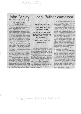 John Ashley -- cop, 'father confessor'