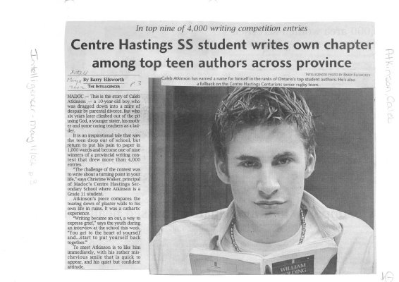 Centre Hastings SS student writes own chapter among top teen authors across province
