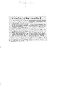 College president pens book