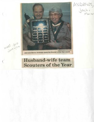 Husband-wife team Scouters of the Year