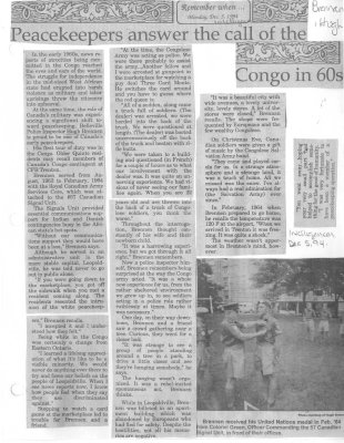 Peacekeepers answer the call of the Congo in 60s