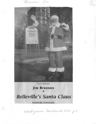 Jim Brennen: Belleville's Santa Claus