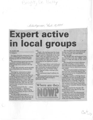 Expert active in local groups