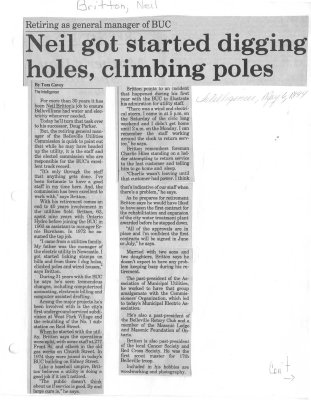 Neil got started digging holes, climbing poles