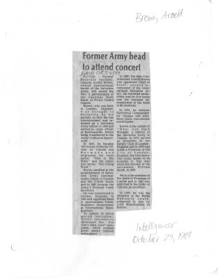 Former Army head to attend concert