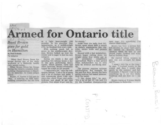 Armed for Ontario title