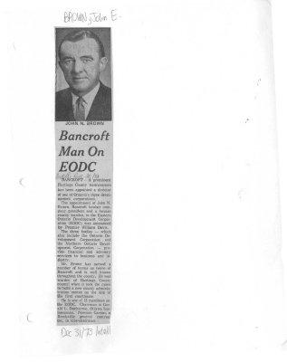 Bancroft Man On EODC