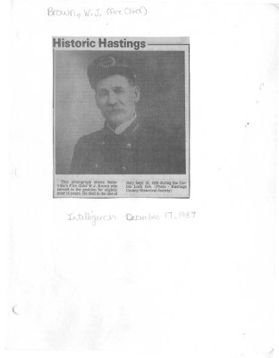Historic Hastings: Fire Chief W. J. Brown