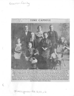 Time Capsule: Brownson Family