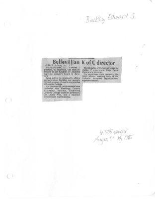 Bellevillian K of C director
