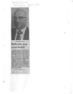 Belleville man a top Knight