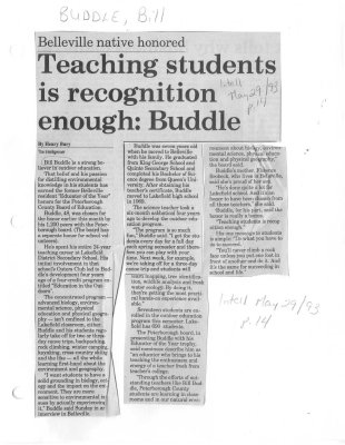 Teaching students is recognition enough: Buddle