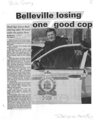 Belleville losing one good cop