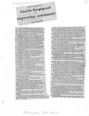 Charlie Burghgraef: Improving community